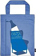 Moses libri_x boekentas nachtleesdeuren   draagtas van 100% katoen   Voor boekenliefhebbers sporttas, 24 cm, blauw
