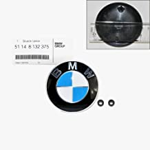BMW Hood Emblem Logo Badge Roundel 82mm Genuine OE 51148132375 + Grommets 51141807495
