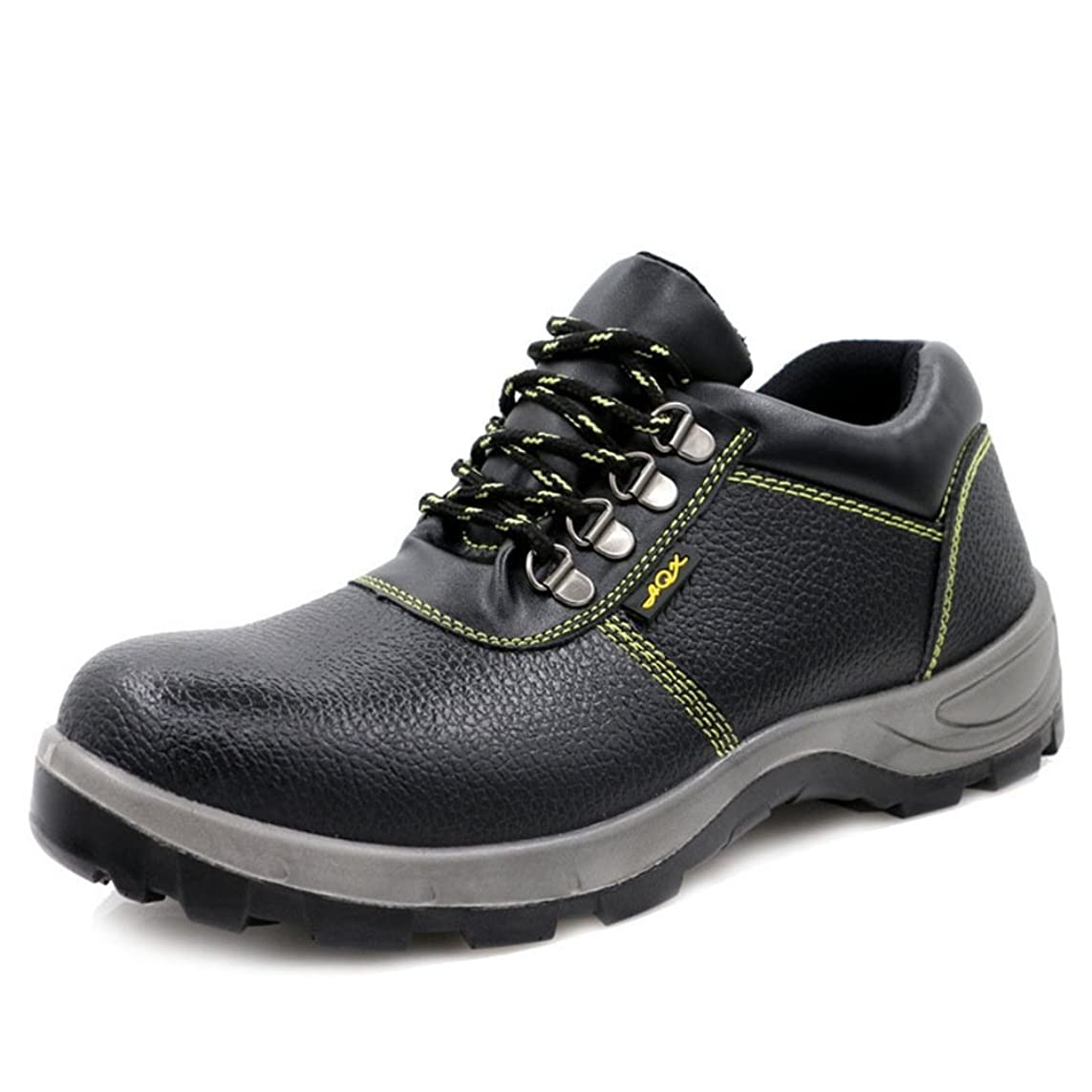 流体浅いセラフ[LuckyDays] 作業靴 ハイカット 安全スニーカー ブーツ 安全靴 スチール先芯 防水 透湿性 軽量 防滑 耐油 耐酸 通気 ゲル メッシュ メンズ レディース 紐 鋼製ミッドソール ウレタン二層底 22.5cm-28.0cm 黒