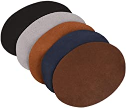 HEEPDD 1Pack Elbow Knee Patches, 3.78 x 5.04 inch Oval Shape PU Leather Patch Repair Sewing Decorative Patch Elbow Knee Artificial Leather Sticker Clothing Applique Craft Accessories