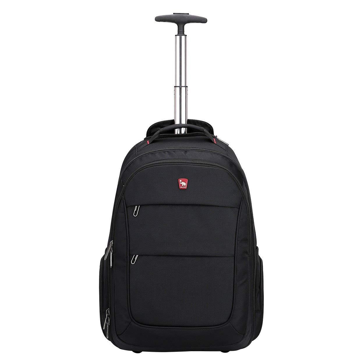 OIWAS Rolling Backpack Book Bag Rucksack