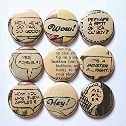 Handmade Gifts for Book Lovers - badges
