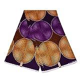 Afrikanischer Stoff, violett/gelbe Kreise, Wachstuch –