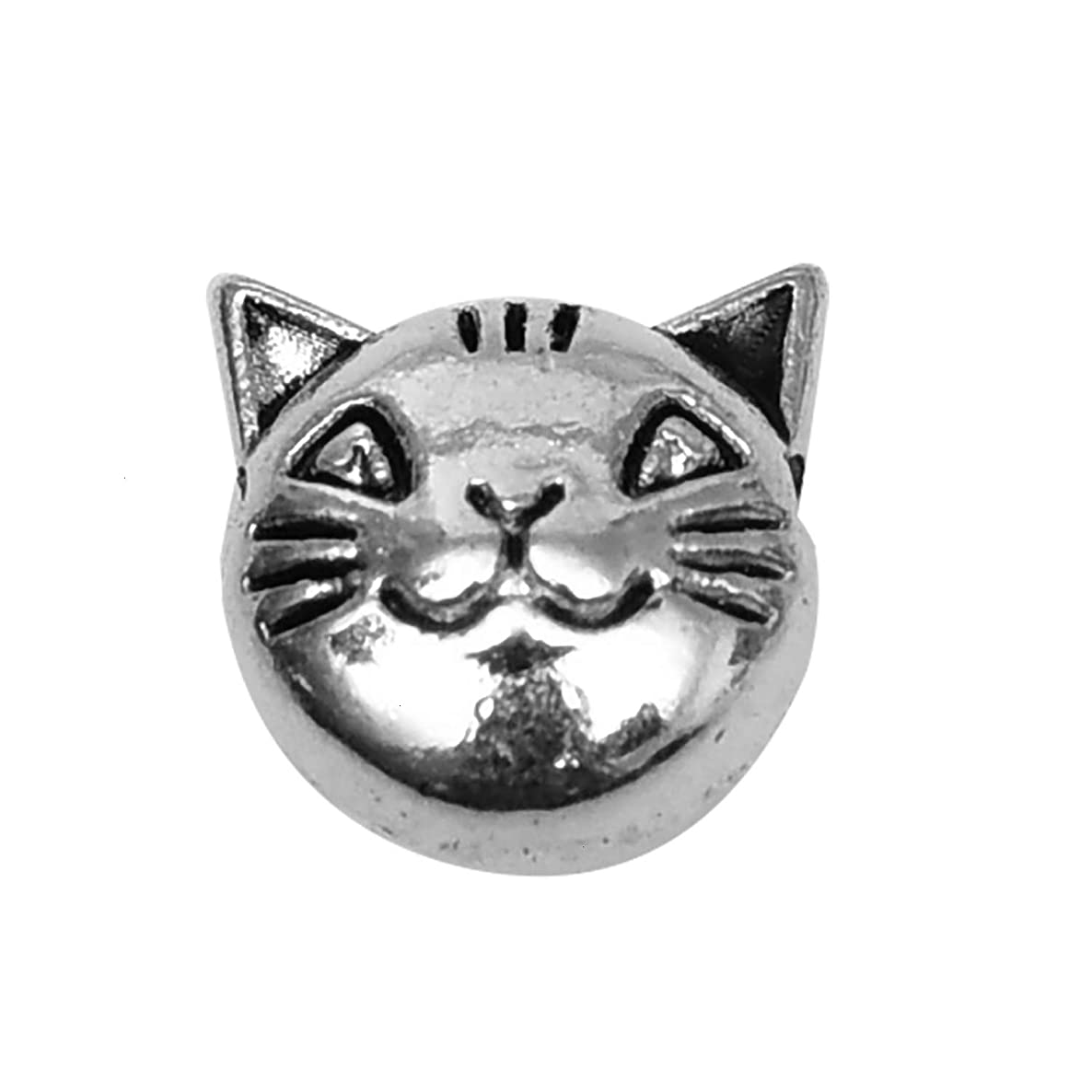 Monrocco 40 Pcs Tibetan Metal Animal Charm Beads Antique Silver Cat Spacer Beads for DIY Jewelry Craft Making Bracelet