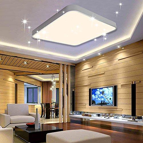 VINGO® 50W LED Deckenleuchte Warmweiß Sternenhimmel Wohnzimmerlampe Badleuchte Küchenleuchte Innenleuchte Wandleuchte Wohnzimmer Badezimmer Schlafzimmer Schlafzimmerleuchte Energiespar