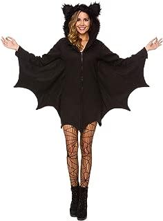Halloween Costume for Women Bat Cozy Black Animal Adult Cosplay Vampire Zipper Dress