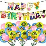 21 piezas Globos de papel de aluminio para fiesta de cumpleaños con temática de Peppa Pig, lindos globos de papel de cerdo rosa para Peppa Pig y George Pig - Globos de fiesta