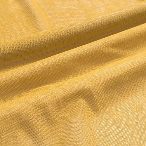 MIRABLAU DESIGN Stoffverkauf Bio Baumwolle GOTS Tüll Softtüll senfgelb weich fallend (9-103M), 0,5m