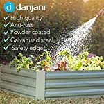 Danjani outdoor raised garden bed with drop over greenhouse - durable, anti-rust steel flower beds - 71. 3 gal planter… 14 perfect for every gardener: whether you're an experienced gardener or as new as freshly grown sprouts, this raised garden bed kit is perfect for you. The planter box makes growing herbs, vegetables and plants easy and stress-free. Enjoy low maintenance with the greenhouse, which provides weather protection, keeping heat and moisture in, and bugs and critters out. Protect and nourish plants: the greenhouse drop over can increase plant yield by providing a warm and nourishing environment to grow in. It also protects from extreme weather, making it possible to grow plants that normally wouldn't fare well in your area. Enjoy year-round fruits and vegetables with the option to grow in the winter. Save money: the rising cost of herbs and produce makes eating healthy an expensive option. But it doesn't have to. Growing your own food can be rewarding, not only for your body and mind but for your wallet too. Have year-round access to some of your favorite fruits, vegetables, and herbs with only the minimal cost of growing them!