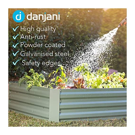 Danjani outdoor raised garden bed with drop over greenhouse - durable, anti-rust steel flower beds - 71. 3 gal planter… 5 perfect for every gardener: whether you're an experienced gardener or as new as freshly grown sprouts, this raised garden bed kit is perfect for you. The planter box makes growing herbs, vegetables and plants easy and stress-free. Enjoy low maintenance with the greenhouse, which provides weather protection, keeping heat and moisture in, and bugs and critters out. Protect and nourish plants: the greenhouse drop over can increase plant yield by providing a warm and nourishing environment to grow in. It also protects from extreme weather, making it possible to grow plants that normally wouldn't fare well in your area. Enjoy year-round fruits and vegetables with the option to grow in the winter. Save money: the rising cost of herbs and produce makes eating healthy an expensive option. But it doesn't have to. Growing your own food can be rewarding, not only for your body and mind but for your wallet too. Have year-round access to some of your favorite fruits, vegetables, and herbs with only the minimal cost of growing them!