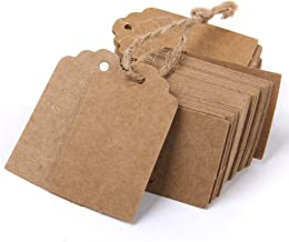 Generic Phenovo Kraft Paper Rectangle Label Blank Card Gift Tags (Brown, 100-Pieces)
