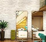 Starsglowing Papel pintado retro de la pared Papel pintado 3D de la piedra papel pintado de la foto para el dormitorio Salón Café Bar 9,5 x 0,53 M (blanco marfil)