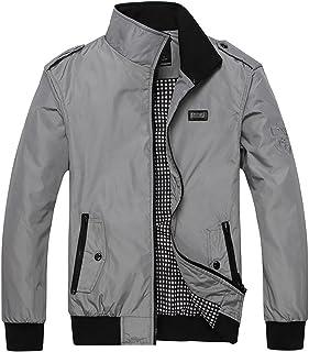 Nantersan Mens Casual Jackets Lightweight Slim Fit Bomber Jackets Coats Classic Outerwear Windbreaker