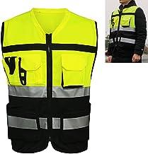 Chaleco reflectante de seguridad, chaleco de seguridad de malla reflectante de visibilidad Ropa de trabajo Gerente ejecuti...