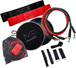 MERAKI ESSENTIALS: Full Body Workout Set | Resistance Bands, Core Sliders, Stackable Bands, Ankle Straps, Door Anchor & Carry Bag | Resistance Training, Physical Therapy, Home Workouts Yoga & Pilates