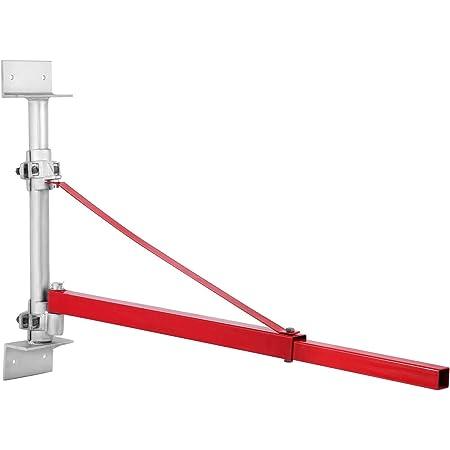 VEVOR Bras Potence Pivotante 600KG/115cm, Potence pour Palan Électrique en Acier, Bras Cadre Palan Treuil Électrique Rotation de 180°, Support Palan Outil de Treuil Facile à Assembler pour ateliers