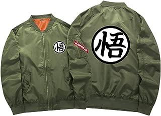 Gumstyle Dragon Ball Anime Bomber Flight Jacket Unisex Zip Up Thicken Baseball Short Coat
