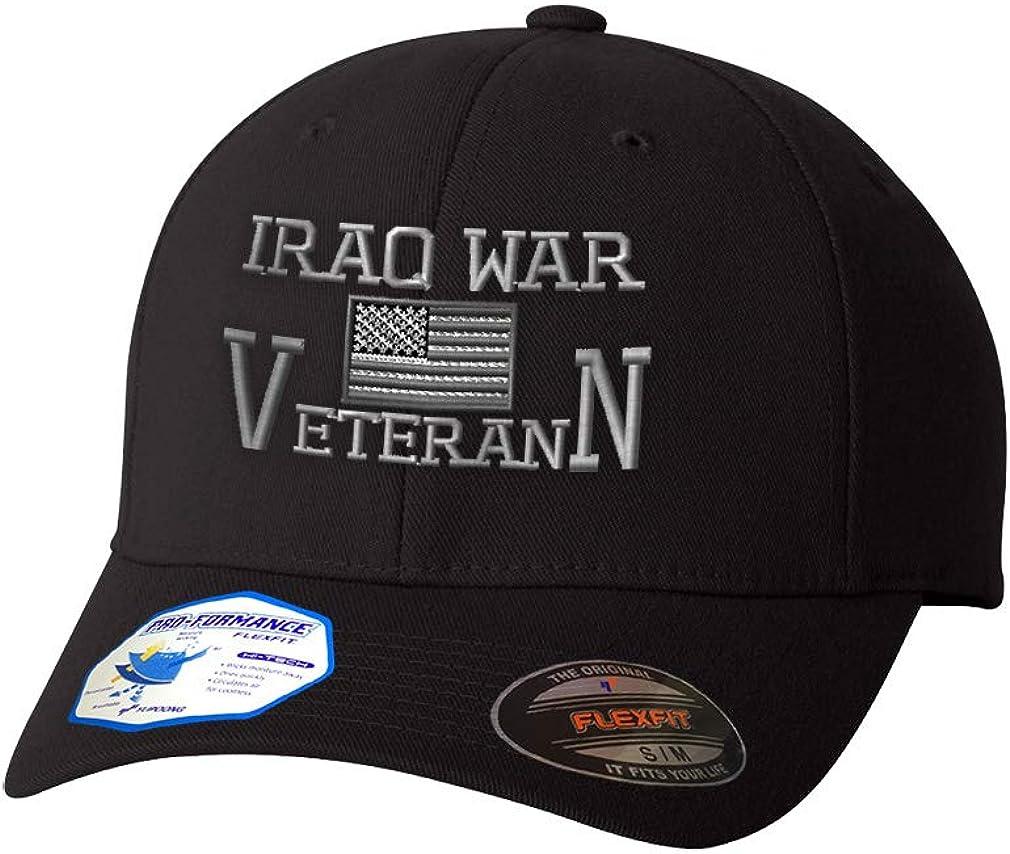Flexfit Hats for Men Women American Industry No. 1 Iraq War Embroid Veteran B Max 79% OFF