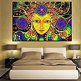 WACYDSD Psychedelische Mandala Abstrakte Hd Gedruckt Leinwand Gemälde Für Wohnzimmer Wohnkultur Wandkunst Rahmenlos