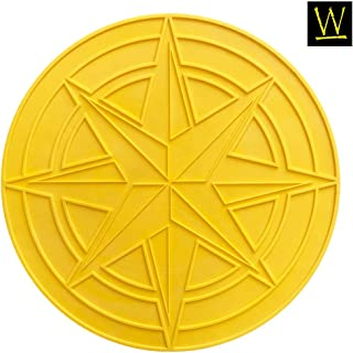 Celestial Compass Star Concrete Stamp by Walttools | Decorative Centerpiece Circle Unique Accent Design (48 inch) (Compass Stamp with N, S, E, W Accessories)