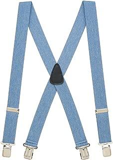 SuspenderStore Men's 1.5-Inch Wide Construction Clip Suspenders (4 sizes, 12 colors)