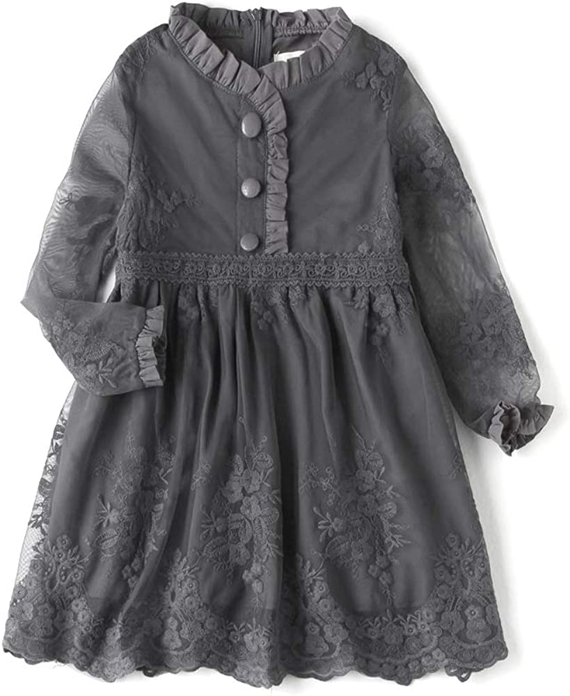 Baby Thin Girl Lace Flower Embroidered Age 2-12 online shop for Dresses Kids NEW before selling ☆