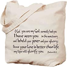 Bible handbag-Psalm 631-3, O God, You Are My God, Earnestly I Seek Have Seen in the Sanctuary and Beheld Your Power Glory Love Is Better Than Life, My Lips Will Glorify