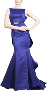 QUZI DRESS Back Fold Evening Dress Long Satin Formal Dresses QZ023