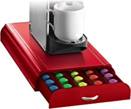 Mind Reader Anchor Coffee Pod Storage Drawer for 50 Nespresso Capsules, Red