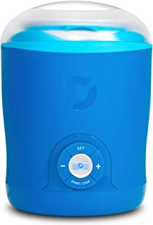 Dash Greek Yogurt Maker Machine with LCD Display + 2 BPA-Free Storage Containers with Lids, Blue (Renewed)