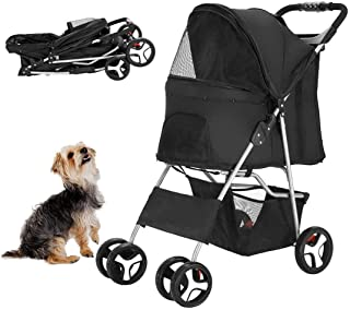 Dog Stroller for Cat and Dog, Easy Fold with Removable Liner Pet Gear Jogger Pet Strollers for Small and Medium Cats, Dogs, Puppy