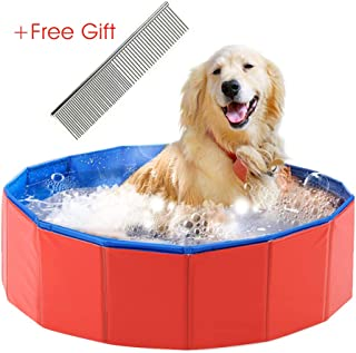 Foldable Dog Swimming Pool,Durable Pet Swimming,Puppy Cats Swimming Bathing Tub Pet Children Kid Ball Water Ponds
