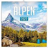 Alpen - Calendario de pared 2022 con folletos, calendario mensual, folleto, calendario natural, 30 x 30 cm (30 x 60 abierto)