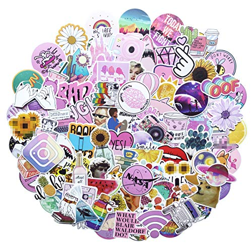 Stickers for Water Bottles Big 103-Pack Cute,Waterproof,Aesthetic,Trendy Stickers for Teens,Girls Perfect for Waterbottle,Laptop,Phone,Travel Extra Durable 100% Vinyl (Fresh 103)