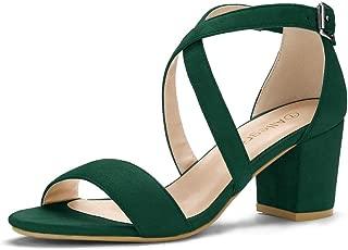Women's Crisscross Ankle Strap Block Heel Sandals