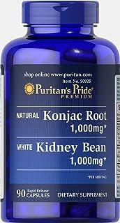 Puritan's Pride Konjac Root and White Kidney Bean-90 Capsules