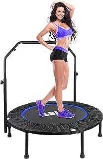 comprar comparacion LBLA Trampolín Fitness Plegable 101 cm con Apoyabrazos Ajustables Trampolín para Niños Adultos Gimnasio Interior Equipamie...