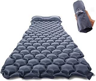 ZOOOBELIVES Ultralight Sleeping Pad with Pillow– Inflatable Camping Mat for Backpacking, Traveling and Hiking, Compact and Portable Multiple Color Options