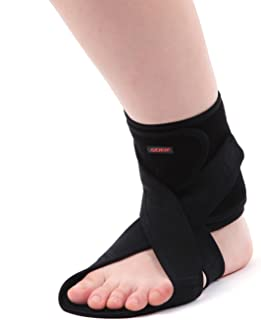 AIDER Dropfoot Braces Type 3 - Foot stabilizer Worn with Shoes, Prevent Inversion of feet, Orthopedic Medical Equipment, Lightweight Material with adhensive Velcro, Improvement in gait(Left)
