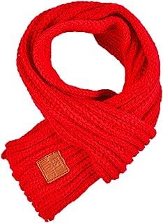 Boomly Autunno e Inverno Semplice di colore solido Modo Carino Calda Sciarpa Lavorata a maglia Scaldacollo Collo Wrap Sciarpa per Bambino Neonato