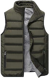 Men Vest Men Vest Warm Comfortable Solid Color Classic Sleeveless Zipper Jacket Sport Leisure Spring and Autumn New Boutiq...