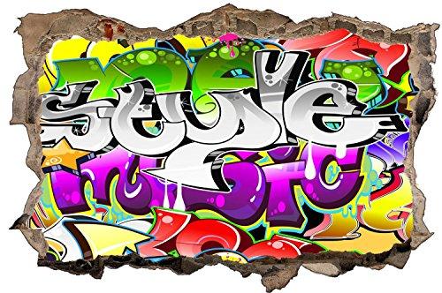 Graffiti Kunst Sprayer Wandtattoo Wandsticker Wandaufkleber D1383 Größe 70 cm x 110 cm
