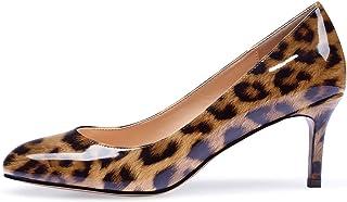 elashe- Scarpe col Tacco Punta Chiusa Donna - Elegante Alto 2.5 inch - Scarpe con Tacco Donna