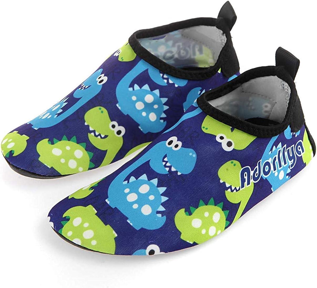 Adorllya Toddler Baby Water Shoes Barefoot Aqua Socks Swim Shoes for Kids Boys Girls Beach Pool