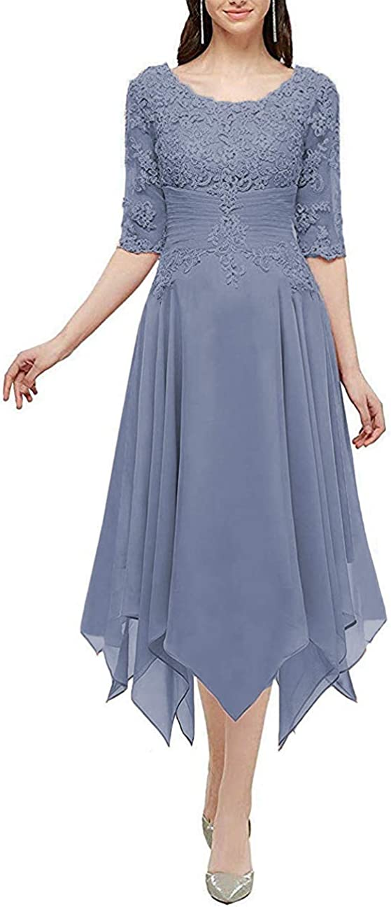 Clothfun Lace Lowest price challenge Chiffon Long Ranking TOP17 Formal Sleeves for Women Dresses Half