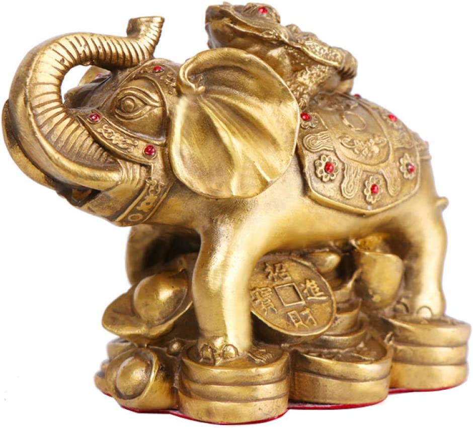 HYLSTJK Golden Toad Decoration Bronze Year-end Limited price annual account Elephant Ingot