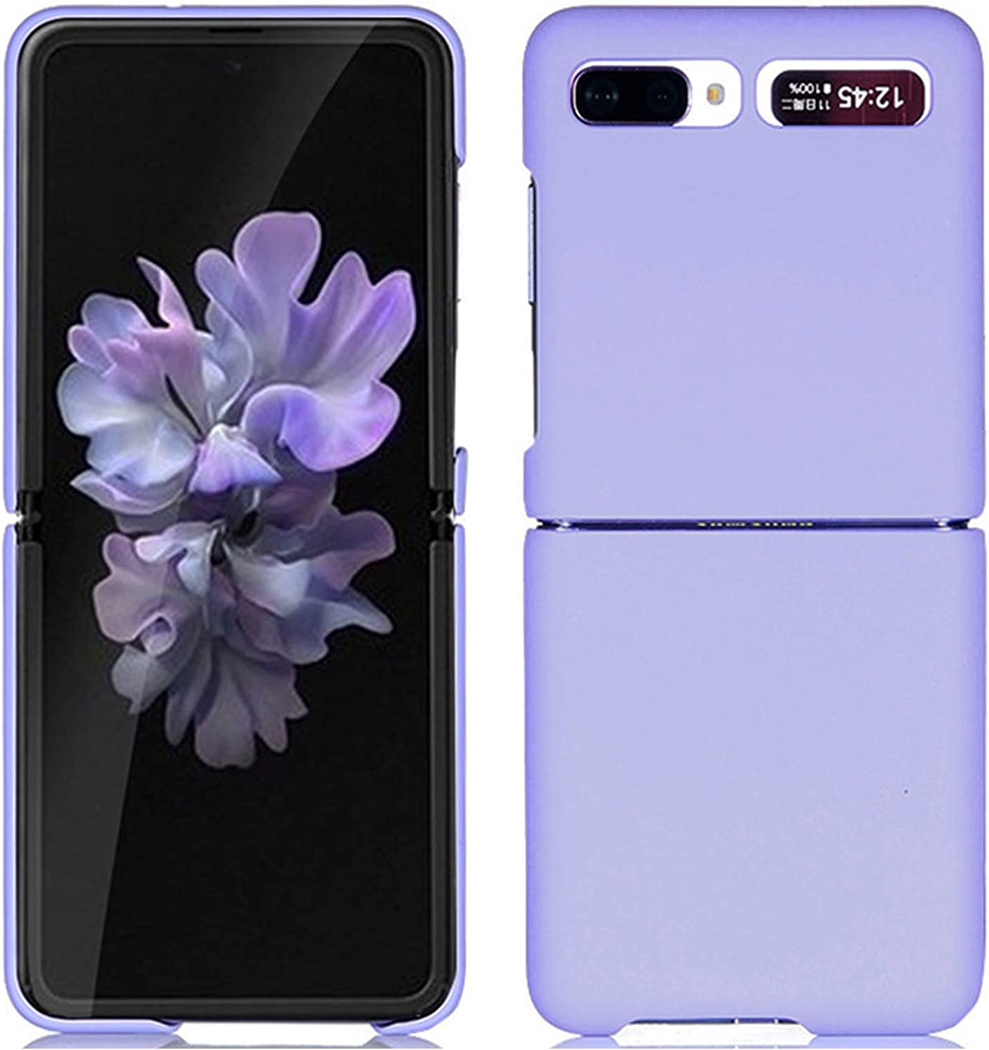 Miimall Compatible Samsung Galaxy Z Flip Case PC Hard Precise Ultra Thin Slim Bumper Anti-Scratch Shock-Proof Protector Case Cover Accessories for Galaxy Z Flip(Violet)