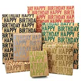 Happy Birthday Wrapping Paper For Men Boys...