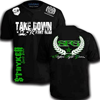 3d2479f19903b Take Down Fight Gear SFG Star Back MMA T-Shirt UFC TAPOUT Boxing Top