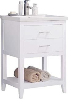 Best 24 inch bath vanity with drawers Reviews